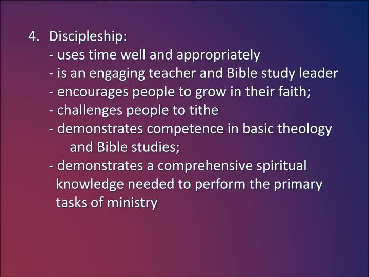 Discipleship: