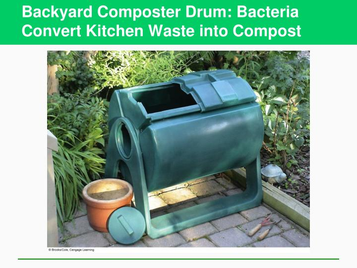 Backyard Composter Drum: Bacteria Convert Kitchen Waste into Compost