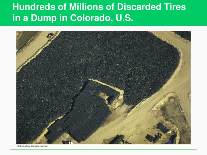 Hundreds of Millions of Discarded Tires in a Dump in Colorado, U.S.