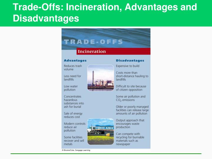 Trade-Offs: Incineration, Advantages and Disadvantages