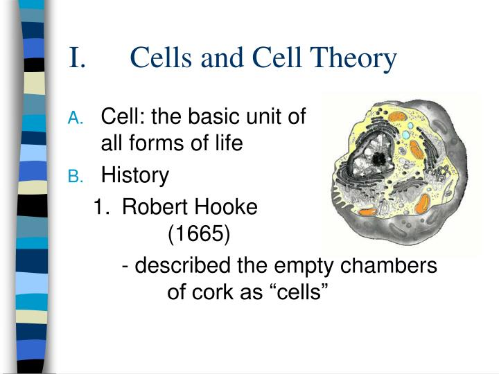 Cells and Cell Theory