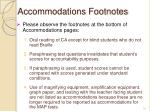 accommodations footnotes