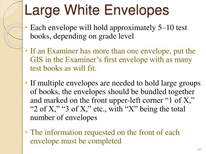 Large White Envelopes