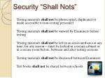 security shall nots