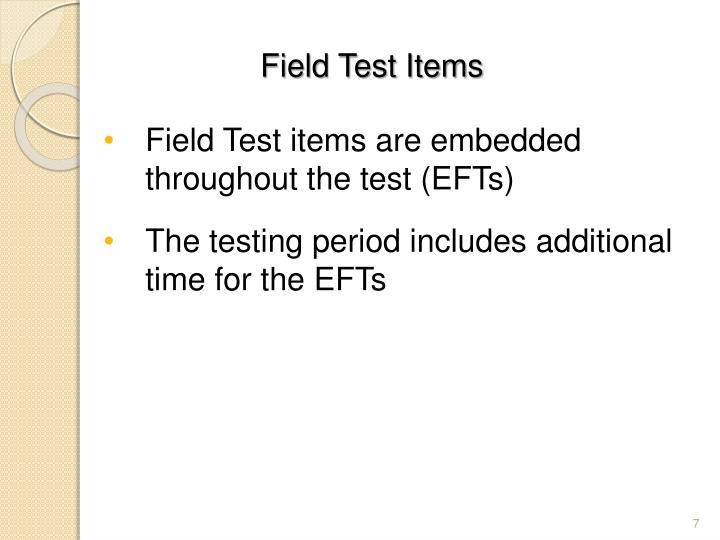 Field Test Items