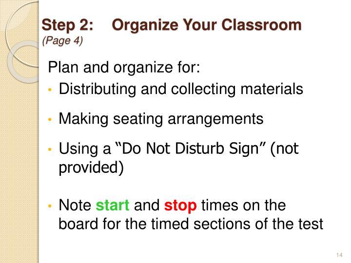 Step 2:Organize Your Classroom
