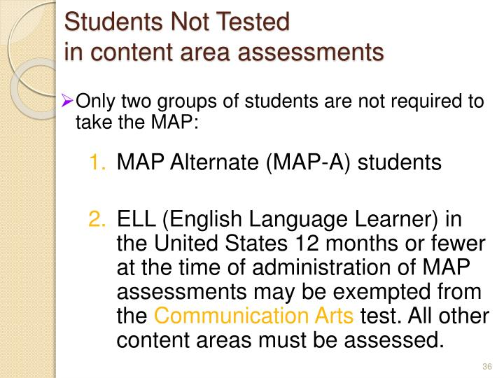 Students Not Tested