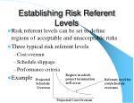 establishing risk referent levels