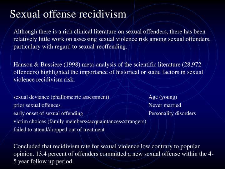 Sexual offense recidivism