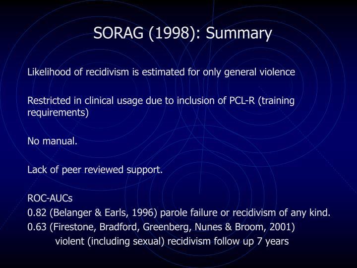 SORAG (1998): Summary