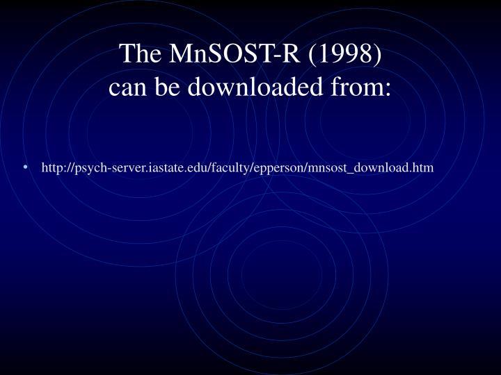 The MnSOST-R (1998)