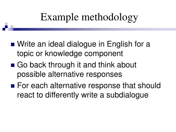 Example methodology
