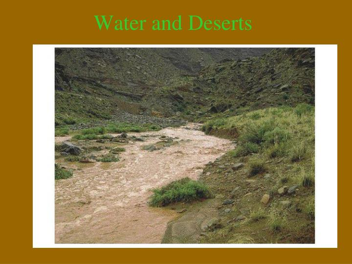 Water and Deserts