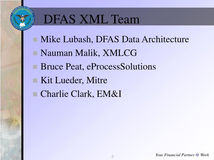 DFAS XML Team