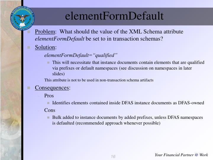 elementFormDefault