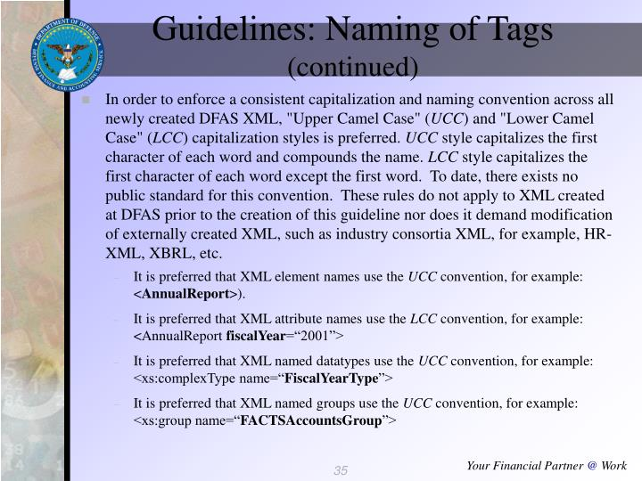 Guidelines: Naming of Tags
