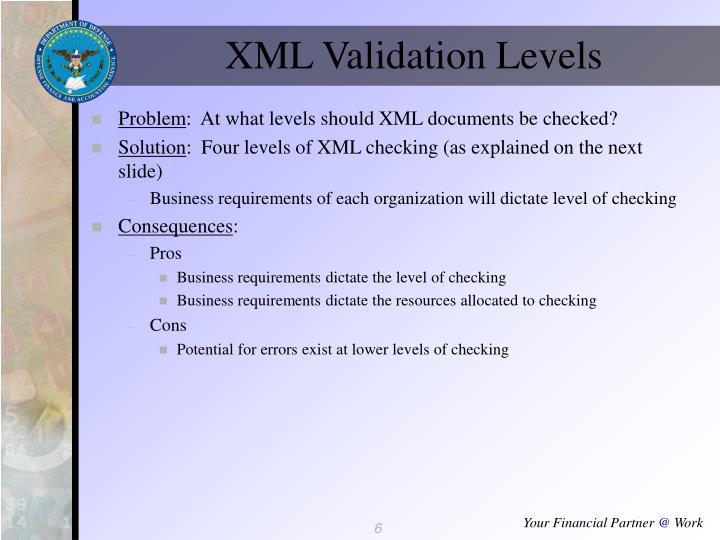 XML Validation Levels