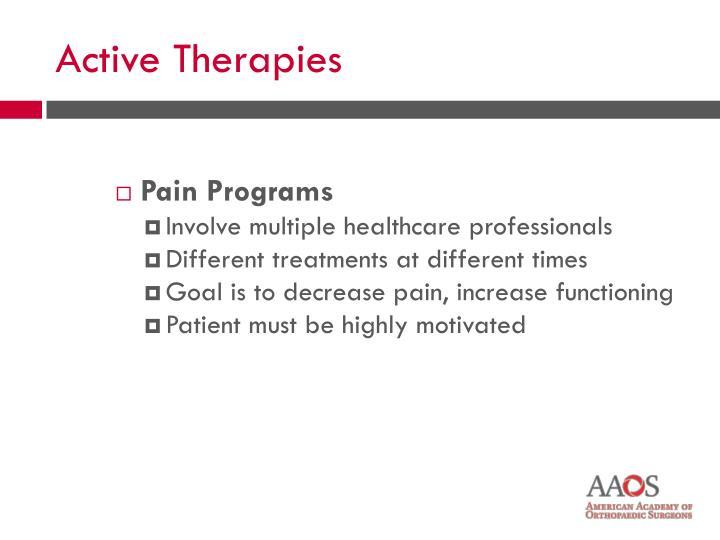Pain Programs