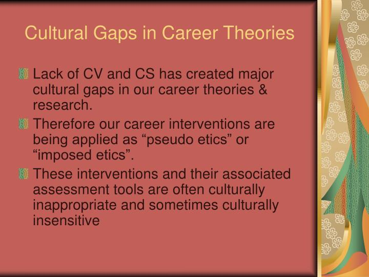 Cultural Gaps in Career Theories