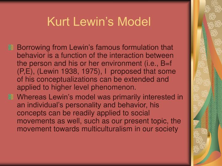 Kurt Lewin's Model