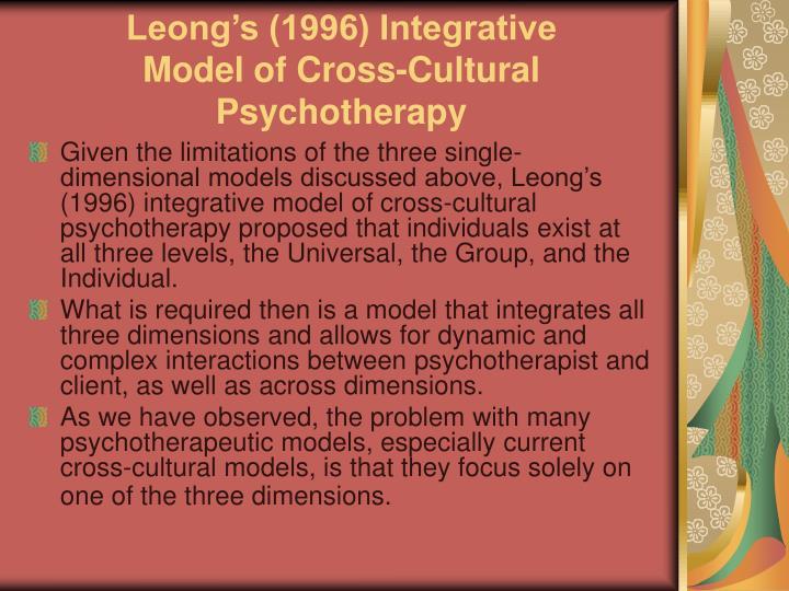 Leong's (1996) Integrative