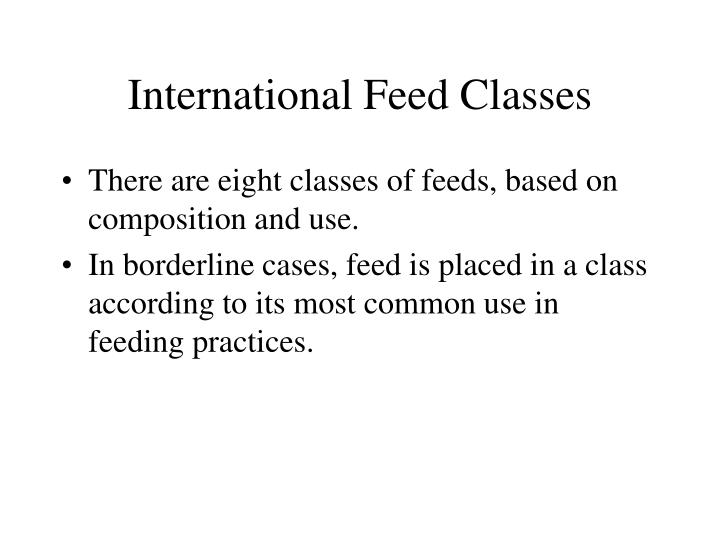 International Feed Classes