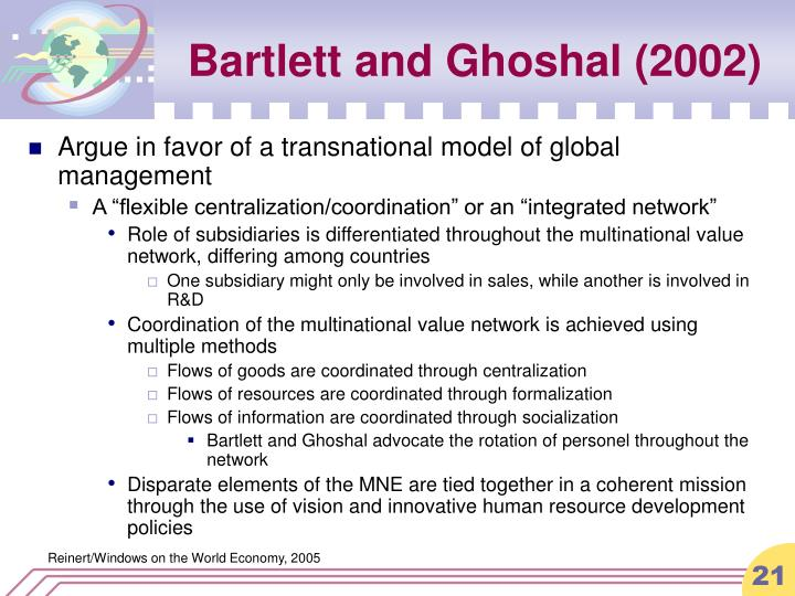 Bartlett and Ghoshal (2002)