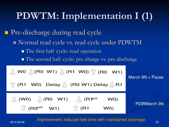 PDWTM: Implementation I (1)