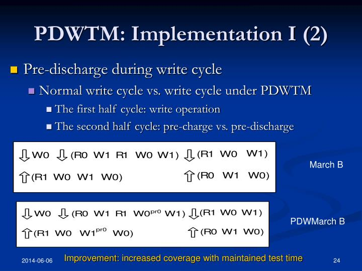 PDWTM: Implementation I (