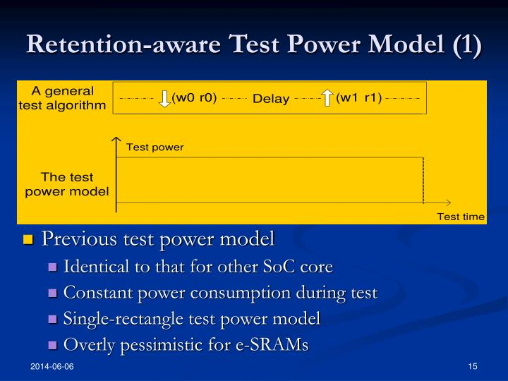 Retention-aware Test Power Model (1)