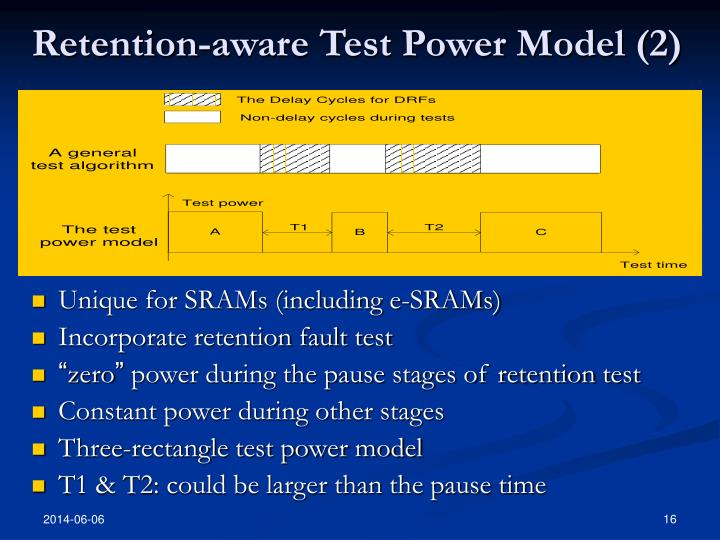 Retention-aware Test Power Model (2)