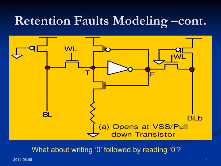 Retention Faults Modeling –cont.