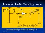 retention faults modeling cont