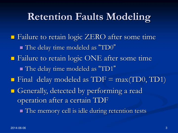 Retention faults modeling
