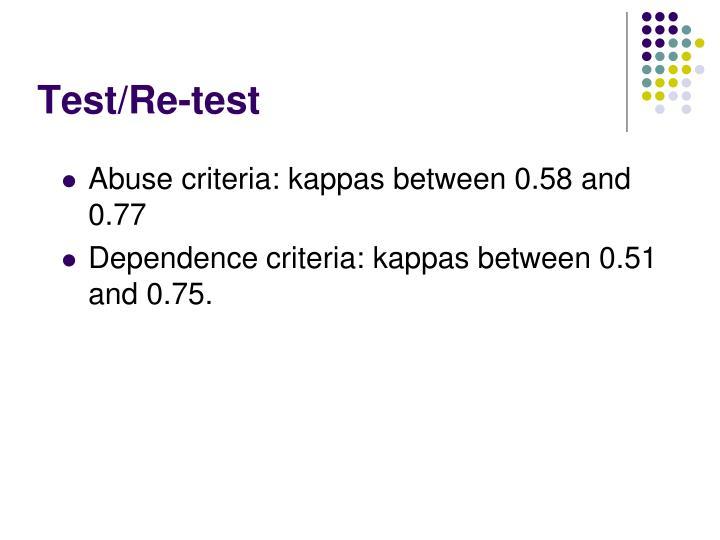 Test/Re-test