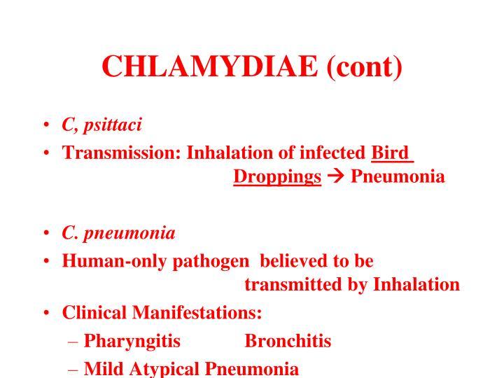 CHLAMYDIAE (cont)