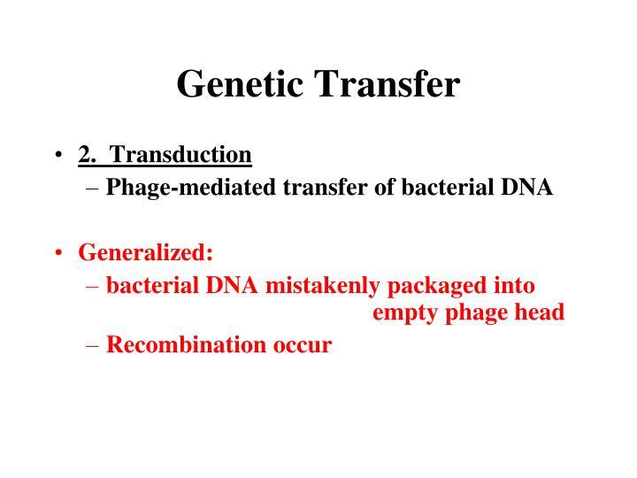 Genetic Transfer