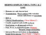 herpes simplex virus type 1 2 cont