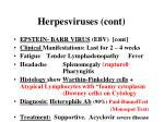 herpesviruses cont3