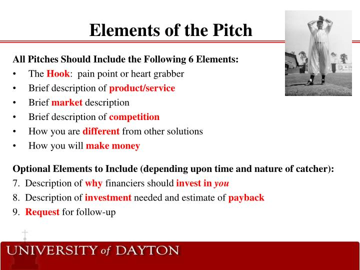 Elements of the Pitch
