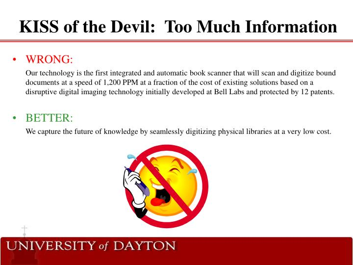 KISS of the Devil:  Too Much Information