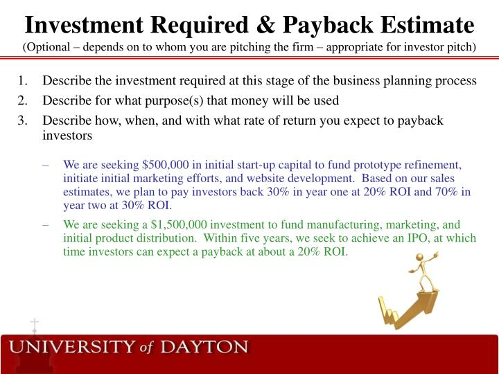 Investment Required & Payback Estimate
