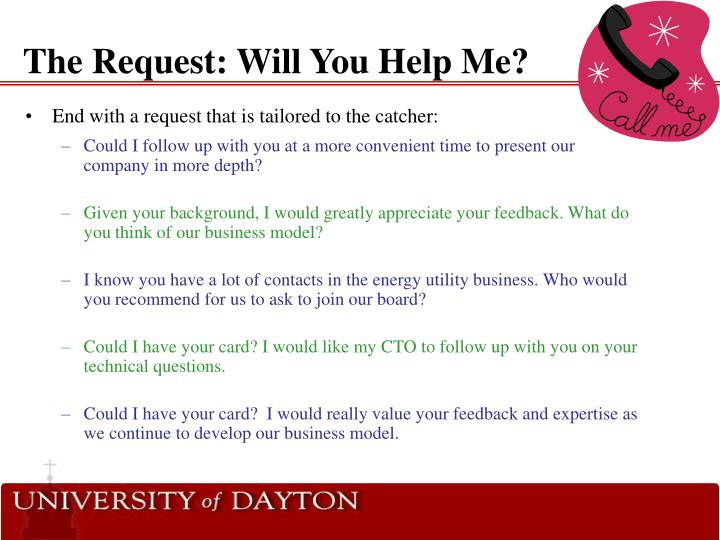 The Request: Will You Help Me?
