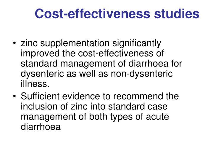 Cost-effectiveness studies