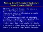 national digital information infrastructure program proposal ndiipp