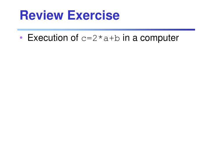 Review exercise