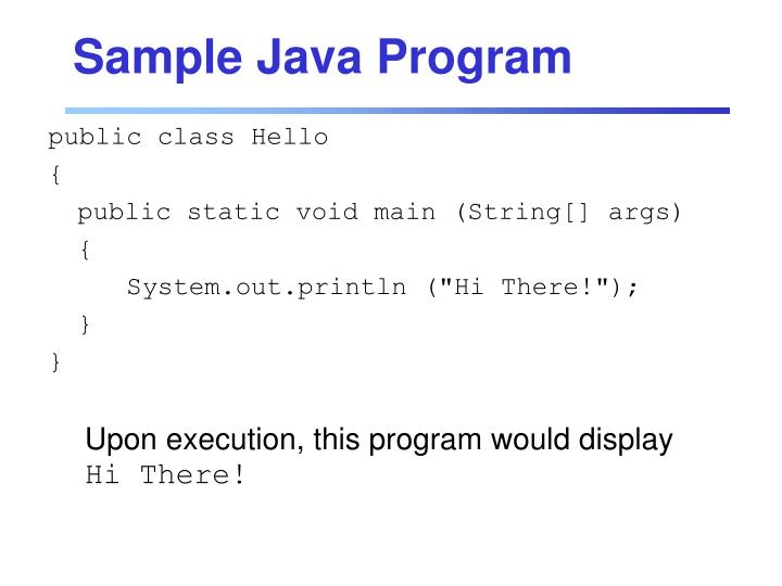Sample Java Program