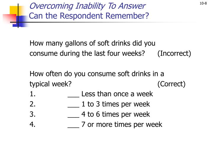 Overcoming Inability To Answer