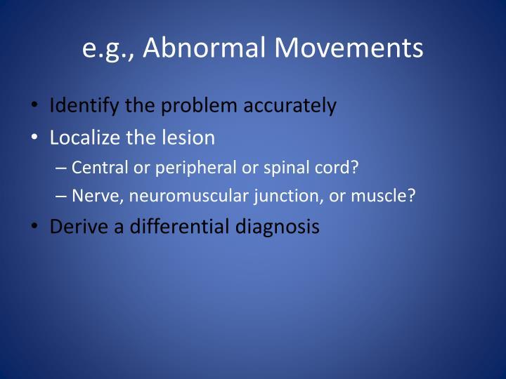 e.g., Abnormal Movements