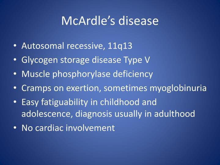 McArdle's disease